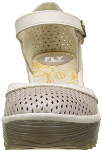 Silver Bout Fermé Escarpins Yupi840fly Femme Offwhite Argent London Fly px70t0
