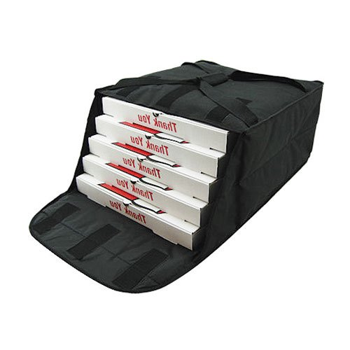 Central Exclusive PBF4 Insulated Pizza Bag - Fabric, Holds (4) 20'' Pizzas