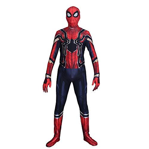 DSFGHE Iron Spider Man Medias Cosplay De Halloween Anime Disfraz Niño Adulto Siamés Corset Tema Party Hero Set,Adult-XL -