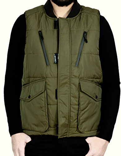 Jordan Craig Men's PU Coated Puffer Vest by Jordan Craig