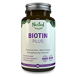 BIOTIN-PLUS-5000-mcg-Vitamins-B3-B6-B12-Help-Rejuvenate-Cells-Antioxidants-Vitamins-C-E-Comprehensive-Multivitamin-Biotin-Supplements-to-Nourish-Skin-Hair-Nails-Vegan-Biotin-Pills