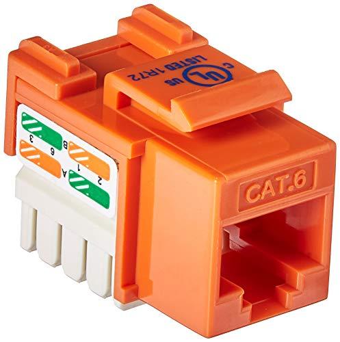 - Belkin Cat6 Channel Certified Keystone Jack (Orange)