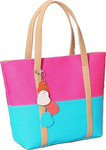 Vincenza , Damen Tote-Tasche blau blau rose