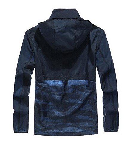Giacca Pelle Outdoor Vento Upf30 Maschile Contro Blue Sottile Essiccazione A TpZYnvtxq