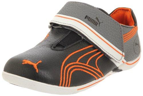 Puma Ferrari Velcro - Puma Future Cat Remix Lo V Fashion Sneaker (Toddler/Little Kid/Big Kid),Black/Team Orange/Steel Grey,5 M US Toddler