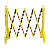 BISupply | Folding Barricade – 8 Ft Portable Road Safety Barriers with Reflectors, Construction Barricade Safety Fence