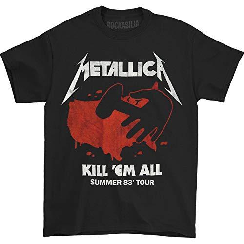 Metallica Men's Kill 'Em All Tour T-shirt Medium Black