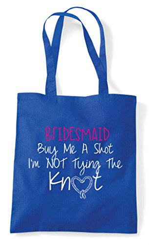Shot Tying I'm Tote Not Personalised The Me Party Customised A Buy Blue Hen Shopper Do Bag Knot Royal wWxFUX8Rqp