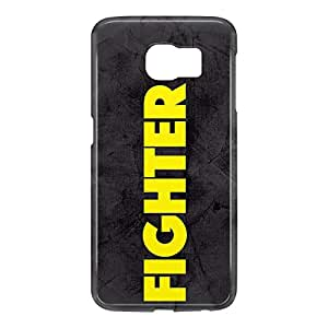 Loud Universe Samsung Galaxy S6 3D Wrap Around Fighter Print Cover - Black