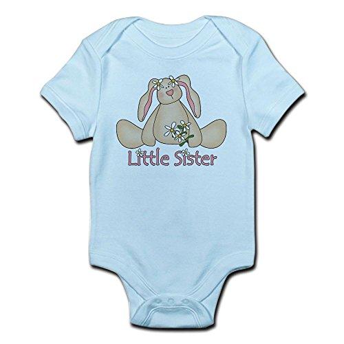 CafePress - Daisy Bunny Little Sister Infant Bodysuit - Cute Infant Bodysuit Baby Romper