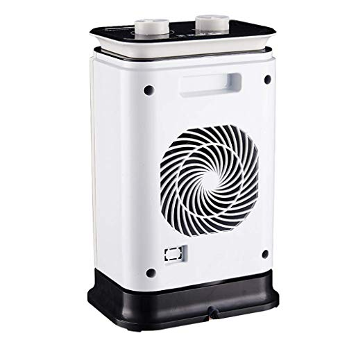 LQUIDE Watt Ceramic Space Heater Electric Heating Fan, Portable Adjustable Thermostat, Flip and Overheat Protection Automatic Off Switch Indoor Use