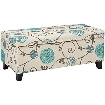 Stupendous Amazon Com Homepop Upholstered Decorative Storage Ottoman Theyellowbook Wood Chair Design Ideas Theyellowbookinfo