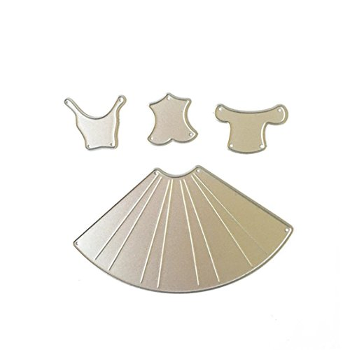 DORIC Metal Die Dress Set Cutting Dies Stencil for DIY Scrapbooking Album Paper Card Decor Craft