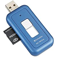 Verbatim CameraMate Pocket Card Reader, 96502, For MS/MS Pro Duo, USB 2.0, 480Mbps [Non - Retail Packaged]