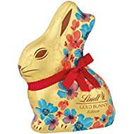 Lindt Limited Spring Edition Floral Milk Chocolate Easter Gold Bunny - 3.5 Oz