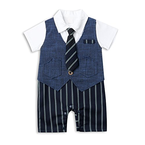 Baby Boy Suit Set, Toddler Short Sleeve Tuxedo Summer Infant Outfit with - Guy Outfit Nerd