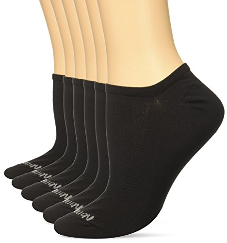 No Nonsense Women's X-sport Microfiber No Show Athletic Sock, 3-pack Sockshosiery, -black, 4-10