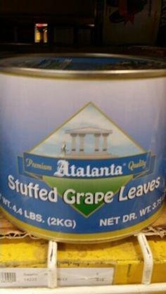 Atalanta Stuffed Grape Leaves 4.4 Lb (2 Pack) by Atalanta