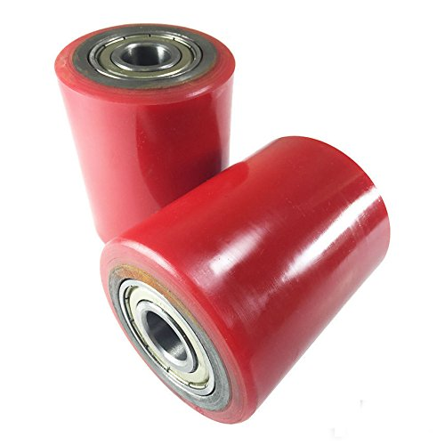 Pallet Jack Poly Load Wheels With Bearings 2.75''D x 3.75''W - A Pair by HYW Products