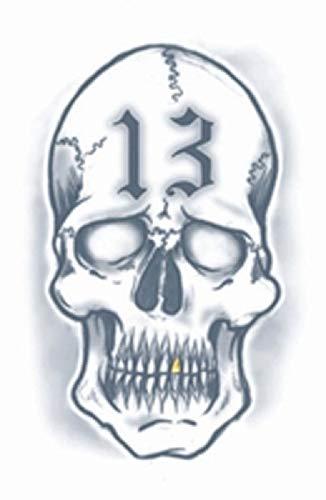 Tinsley Transfers 13 Skull Prison Temporary Tattoo]()