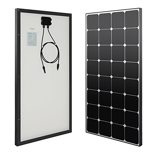 Renogy Eclipse­ 100 Watt 12 Volt Monocrystalline Solar Panel - 0.5' Thick Glass