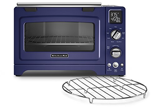 KitchenAid KCO275BU Convection 1800-watt Digital Countertop Oven, 12-Inch, Cobalt Blue - smallkitchenideas.us