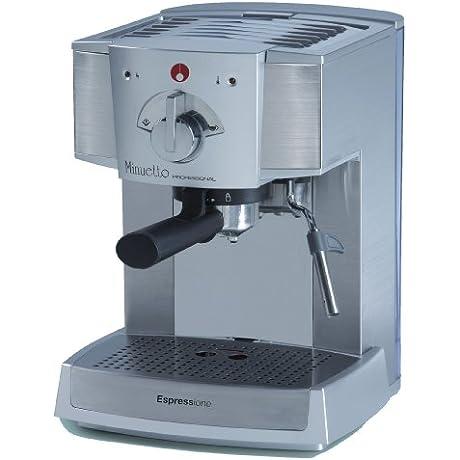 Espressione DeLonghi Of Italy Caf Minuetto Professional Thermoblock Espresso Machine Silver