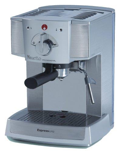 Espressione-Ariete (a company of De'Longhi Group) Café Minuetto Professional Thermoblock Espresso Machine, Silver