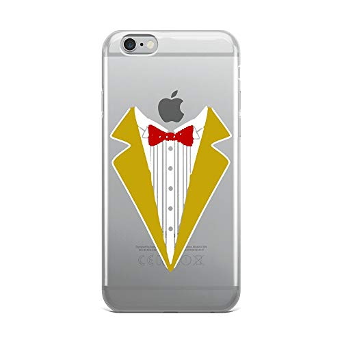 iPhone 6 Plus/6s Plus Pure Clear Case Crystal Clear Cases Cover Magician Costume Funny Tuxedo for Kids Adults Transparent]()