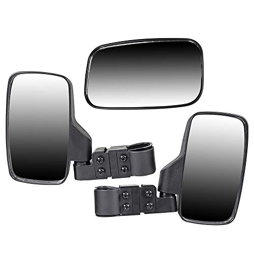 NICHE Black Breakaway Offroad Rear & Side View Mirrors Combo Side x Side UTV Utility Vehicle w/ 1.75
