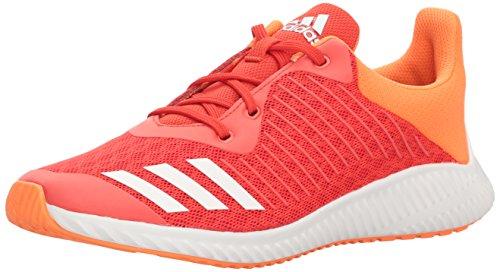 adidas Performance Girls' Fortarun K,Hi-Res Red/White/Hi-Res Orange,1 M US Little (1 Kids Orange White Sneakers)