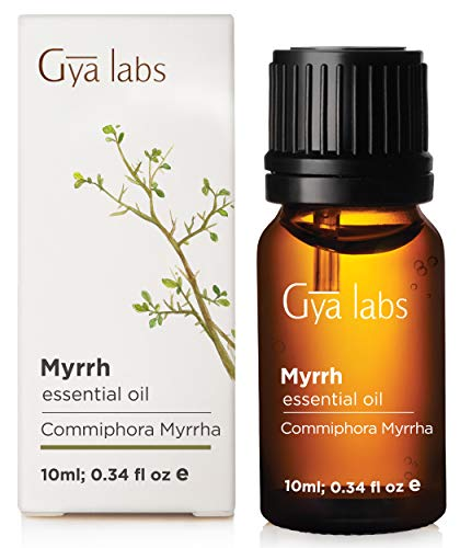 Myrrh Essential Oil - 100% Pure Therapeutic Grade for Skin, Gums and Diffuser (10ml) - Gya Labs (Buy To Patchouli Perfume Where)