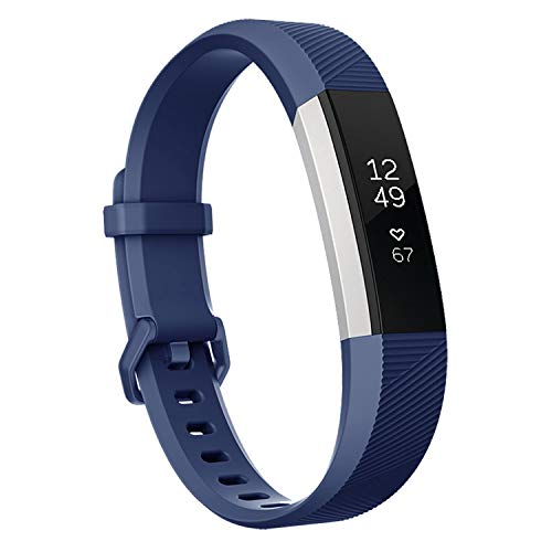 (Keasy Replacement Bands Compatible for Fitbit Alta and Fitbit Alta HR, Sport Bands with Secure Metal Buckle(Navy Blue,Small(5.5