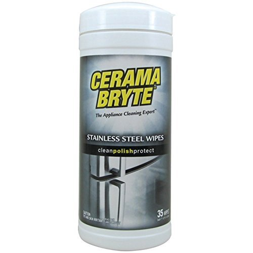 Cerama Bryte 48635 Cleaning Wipes Stainless Steel - Polishes & Conditions Home & Garden Improvement