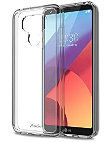 LG G6 Case, ProCase Slim Hybrid Crystal Cover Clear Protective Case for LG G6 2017 -Clear