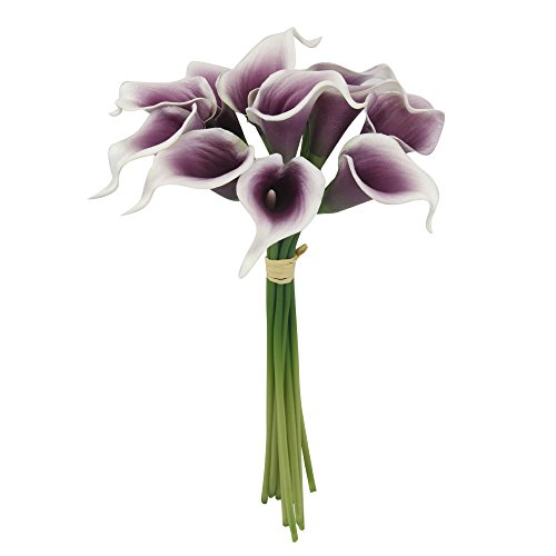 (Lot of 60-Real Touch calla lilies (Picasso-Plum))