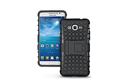 purchase cheap 5c454 2d619 FABZONE Back Cover for Samsung Galaxy Core Prime (G360H) Back Cover Hybrid  Kick Stand Case - Black