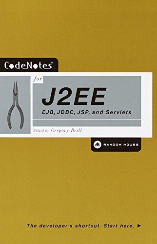 CodeNotes for J2EE: EJB, JDBC, JSP, and Servlets by Random House Trade Paperbacks