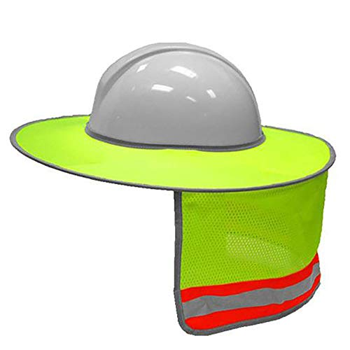 - LBAFS Construction Safety Hard Hat Neck Shield Helmet Sun Shade Reflective Stripe Kit,Yellow