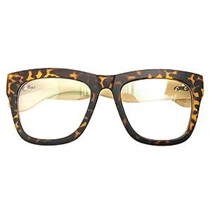 Real Bamboo Wood Temples Eyeglasses Frames Men Women Retro Spectacle Wooden Arm Foot Eyewear (LEOPARD 10399)