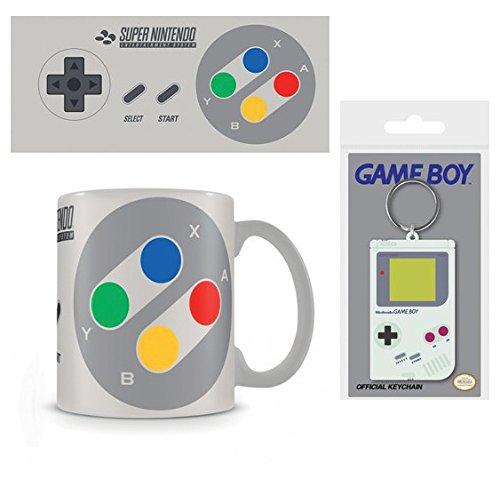 1art1 Set: Nintendo, SNES Controller Taza Foto (9x8 cm) Y 1 ...