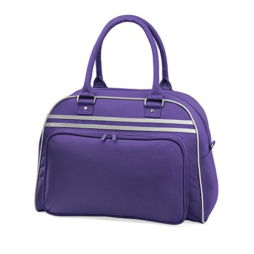 - Bagbase Retro Bowling Bag (23 Liters) (One Size) (Purple/Light Gray)