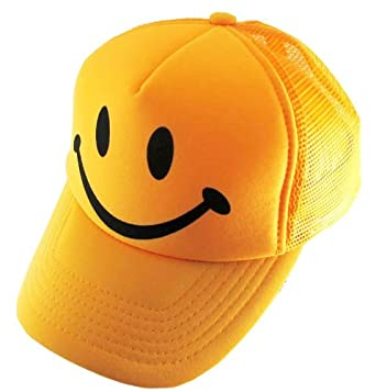 e4f859d674405 Amazon.com  Toddler Youth Yellow Smiley Face Smile Mesh Trucker Hat ...