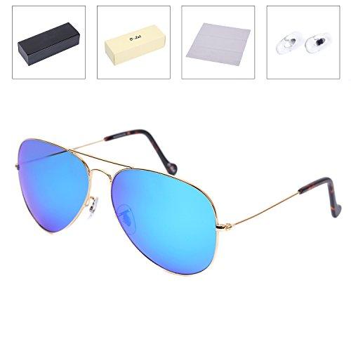O-LET Oversized Polarized Aviator Sunglasses for Women/Men, Stainless Steel Frame w/ Glass Polarized Lens, - Sunglasses Sale Branded