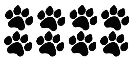 8 Dog Paw Prints Sticker Black - Dogs, Puppy, Pooch Lover