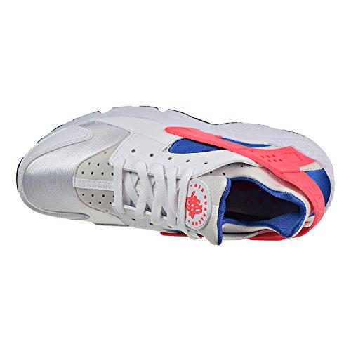 NIKE Mens Huarache Running Shoes White/Ultramarine/Solar Red 318429-112 Size 12 ZWS8IgF
