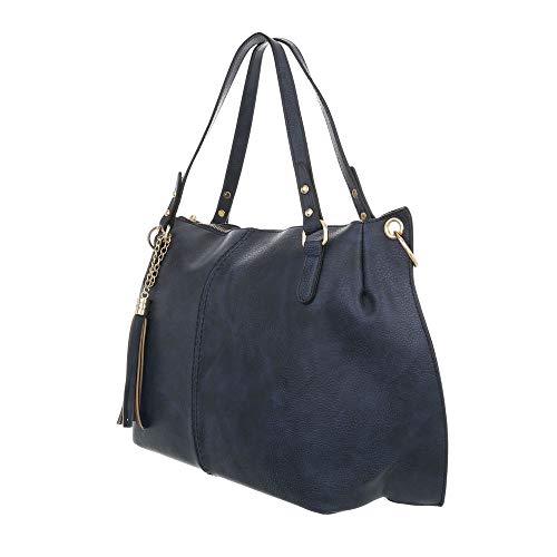 design Bleu Pour Cabas Ital Foncé Femme qY8fd