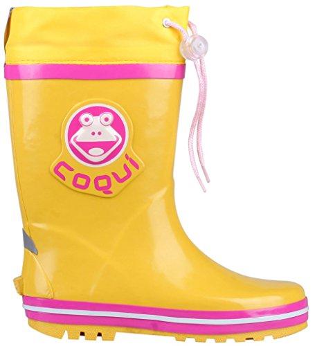 Coqui ,  Mädchen Jungen Unisex Kinder Wellington-Schuhe Gelb/Rot
