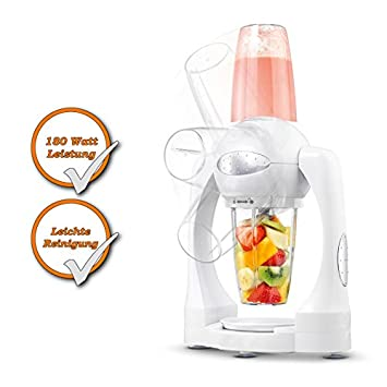 Smoothie maker con cuchilla de acero inoxidable + función turbo, incluye vaso 3 Mix,