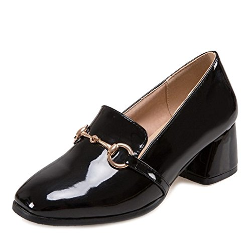 22b19be2243 lovely SJJH Casual Loafer Shoes with Chunky Heel Large Size Chic Shoes with  2-colors